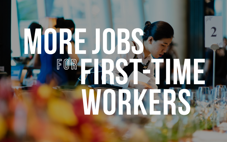 more jobs for first time workers
