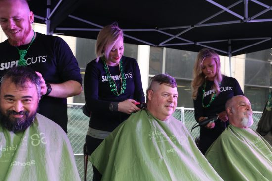 Shaving Heads to Fight Childhood Cancer